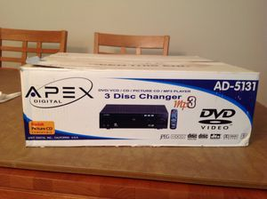 APEX DVD / VCD / CD / PICTURE CD / MPS PLAYER. 3 disc changer / karaoke capable for Sale in Skokie, IL