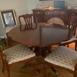 Cherry Dining Room Table With Six Chairs for Sale in Baltimore,  MD