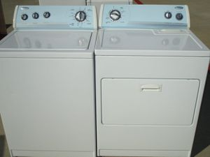 Great whirlpool washer and dryer electric heavy duty super capacity for Sale in Euless, TX