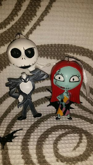2 X The Nightmare Before Christmas Exclusive 2018 Ornaments. for Sale in Round Rock, TX