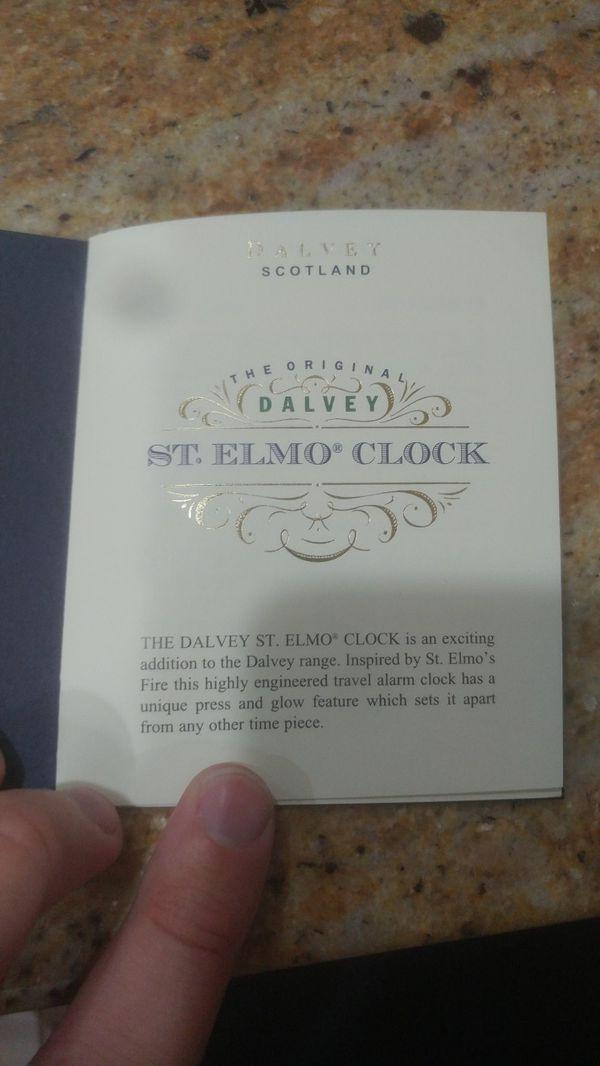 Dalvey st Elmo travel clock (vintage)