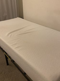 Twin XL Memory Foam Mattress And Frame for Sale in Los Angeles,  CA