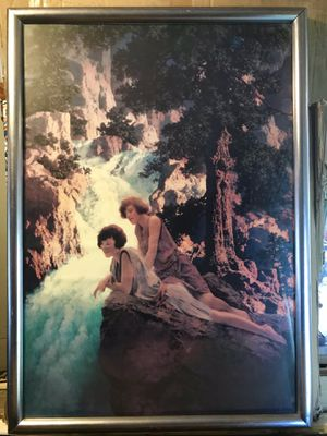 Maxfield Parrish (Vintage) The Waterfall. Size: 24x30 including frame. for Sale in Gig Harbor, WA
