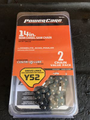 "Y52 14"" SEMI CHISEL SAW CHAIN 2 CHAIN VALUE PACK for Sale in Avondale, AZ"