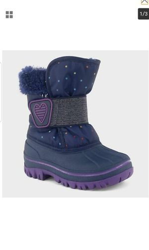 Toddler Girls' Charissa Glitter Faux Fur Winter Boots - Blue - Cat & J for Sale in Jeffersontown, KY