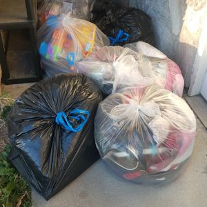 Free Bags Of Women And Kids Clothes, Toys And Miscellaneous Items for Sale in City of Industry, CA