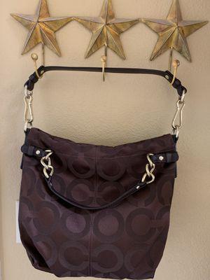 Coach Signature Brooke Hobo Sateen Chocolate Brown Bag for Sale in Peoria, AZ