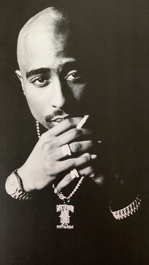 Tupac Death Row Print And Poster In Glass Frame