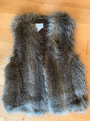 Faux fur vest from club Monaco for Sale in Seattle, WA