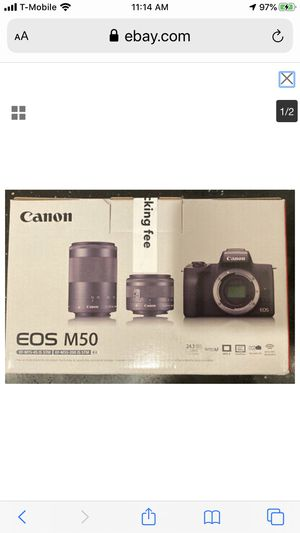 *Brand New* Canon EOS M50 Mirrorless Camera EF-M 15-45mm 55-200mm IS STM Lenses for Sale in Los Angeles, CA