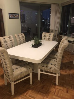 Tables and six chairs free for Sale in Jersey City, NJ