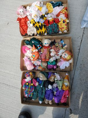 Clown collection for Sale in Morgantown, WV