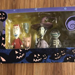 Nightmare before Christmas lock shock barrel doll set figure in original box By for Sale in Portland, OR