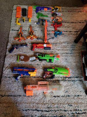 Nerf guns, clips, marshmallows guns...etc for Sale in Chandler, AZ