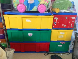 Kids colorful 3 drawer dresser toy box bin for Sale in Diamond Bar, CA