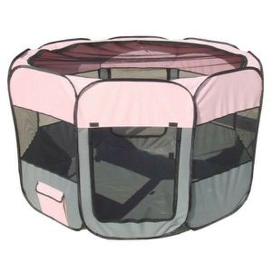 All-Terrain Lightweight Easy Folding Wire-Framed Collapsible Travel Dog Playpen in Pink/Grey - LG for Sale in Cedar Hill, TX