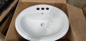 American Standard Aqualyn Self-Rimming Drop-In Bathroom Sink in White (10 available) for Sale in Pompano Beach, FL