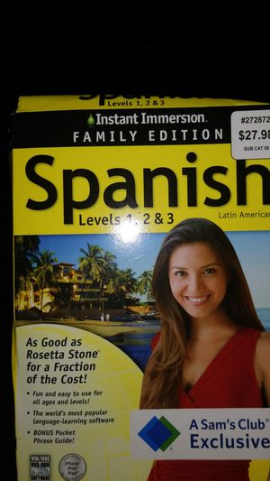 Instant Emerson Family Edition SPANISH language-learning software for Sale in Clearwater, FL