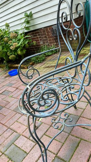 Wrought Iron Table and two chairs for Sale in Lakewood, OH