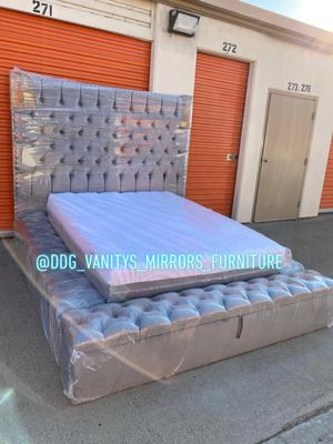 Queen size storage Bed Frame for Sale in Pomona, CA