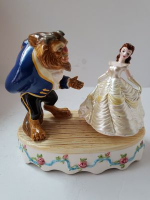 Vintage Disney Schmid Beauty and The Beast Porcelain Musical Figurine made Japan for Sale in Los Angeles, CA