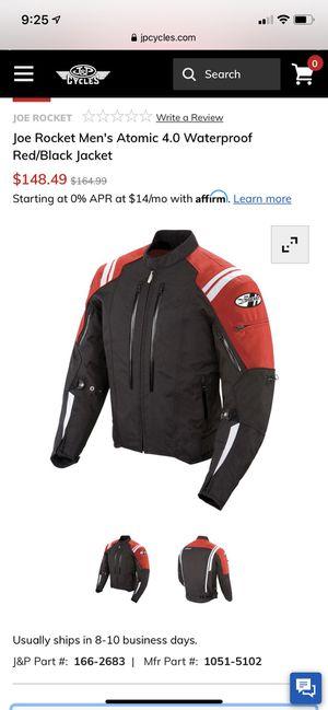 Joe rocket men's motorcycle jacket. for Sale in Clarksburg, WV