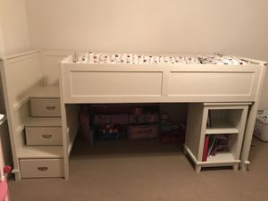 Twin Loft Bed with mattress for Sale in Manassas, VA