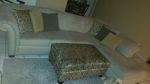 Sectional sofa and Ottoman for Sale in Austin, TX