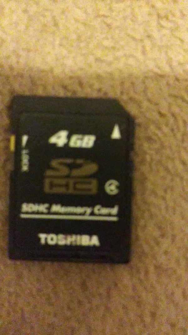4gb sdhc memory card Toshiba