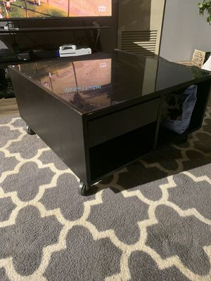Real wood with glass coffee table. for Sale in Minneapolis, MN