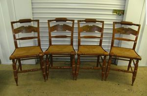 4 Antique Ethan Allen American Eagle Printed Back Pattern Hitchcock Chairs for Sale in Kensington, MD