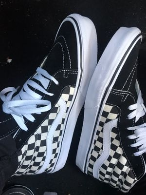 Checker board vans black and white for Sale in Carrollton, TX