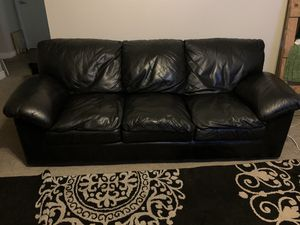 Black Leather Couch for Sale in Mesa, AZ