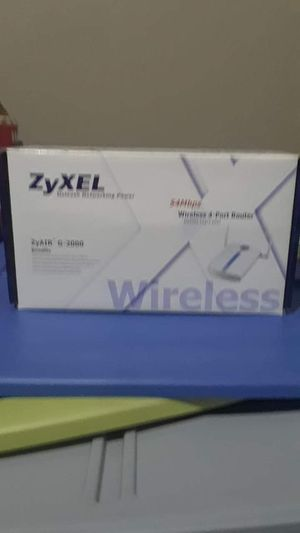 ZyXEL ZyAir G-2000 wireless 4 port router for Sale in Tampa, FL