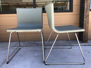 IKEA BERNHARD CHAIRS IN SAGE LIKE NEW for Sale in Salt Lake City, UT