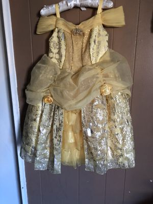 4T DISNEY BELLE PRINCESS COSTUME DRESS FROM DISNEY STORE for Sale in Riverside, CA