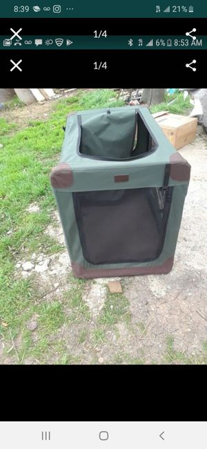 XLarge Dog Kennel does not fold down as is $45.00 cash only (serious buyers) for Sale in Dallas, TX
