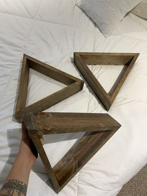 3 Triangle Wall Shelves/Decoration for Sale in Los Angeles, CA