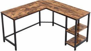 Corner Desk Table Rustic Brown for Sale in Chino, CA