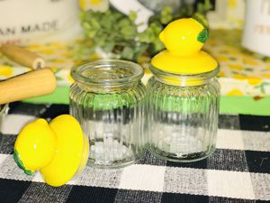 Lemon-topped Decorative Glass Jars for Sale in Saginaw, TX