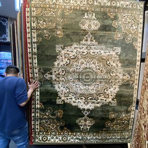 5x7 Area Rugs Carpet Rugs Persian Traditional Design Super Soft Silky Touch Thick Tight Pile Colors Green Beige for Sale in Los Angeles, CA