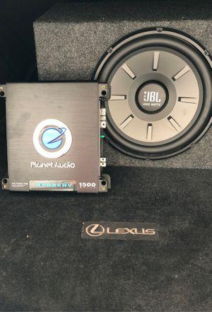JBl 1000 watt speaker/planet audio 1500 watt amp for Sale in Houston, TX