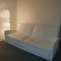 Withe Faux Leather Convertible Sofa for Sale in San Francisco,  CA