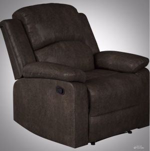 New!! recliner, relaxing chair, TV recliner, couch, armchair, faux leather manual recliner, living room furniture, espresso for Sale in Phoenix, AZ