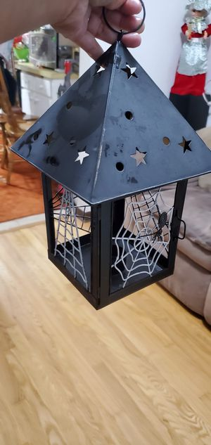 Halloween Metal Lantern Candles Decorations for Sale in Oak Lawn, IL