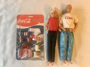 Vintage 1980s Coke Ken and Barbie Doll and Sealed Accessories for Sale in Federal Way, WA