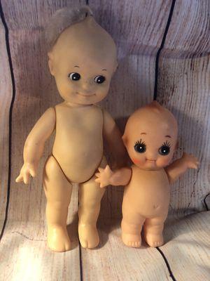 Lot of 2 kewpie dolls made in China and Korea for Sale in San Bernardino, CA