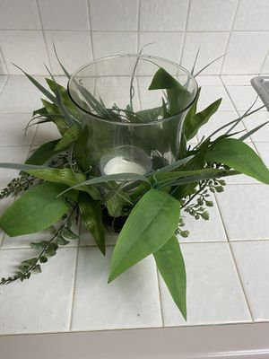 Faux plant candle holder for Sale in Long Beach, CA