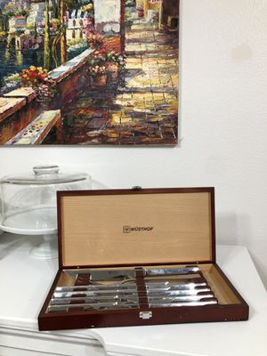 Wusthof ten piece steak knife and carving set perfect for thanksgiving for Sale in Issaquah, WA