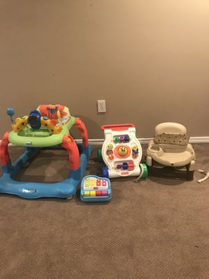 Kids walkers, toy and high chair for Sale in St. Louis, MO